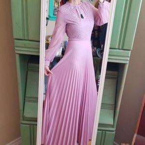 VTG Gorgeous Lavendar Boho 70s Maxi Dress